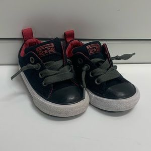 Converse Toddler Size 5 - Black & Red
